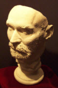 Alfred Nobel's death mask. Photo taken by Hal ...