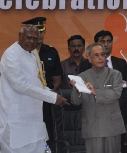 President gets first copy